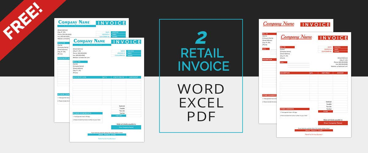 Retail Invoice Templates