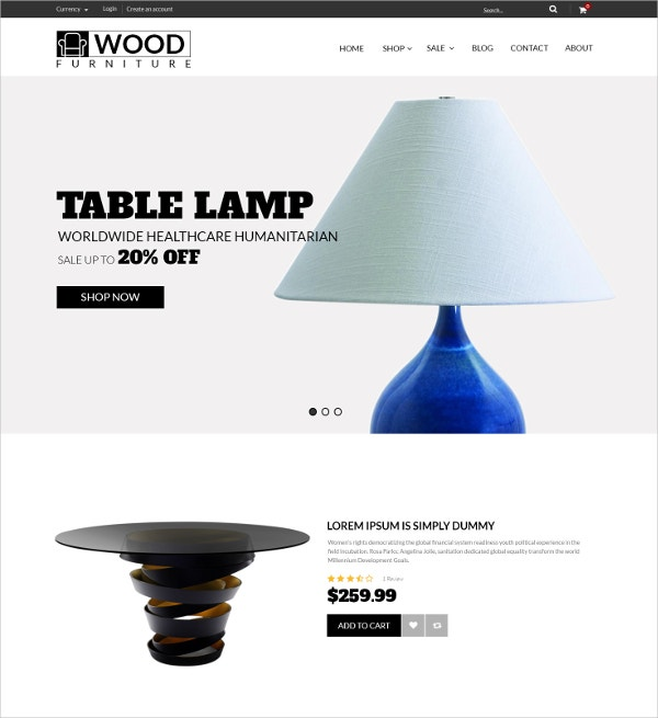 Furniture Decoration Shopify Blog Theme $56