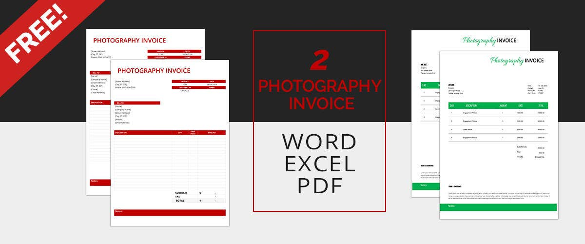 Photography Invoice Templates