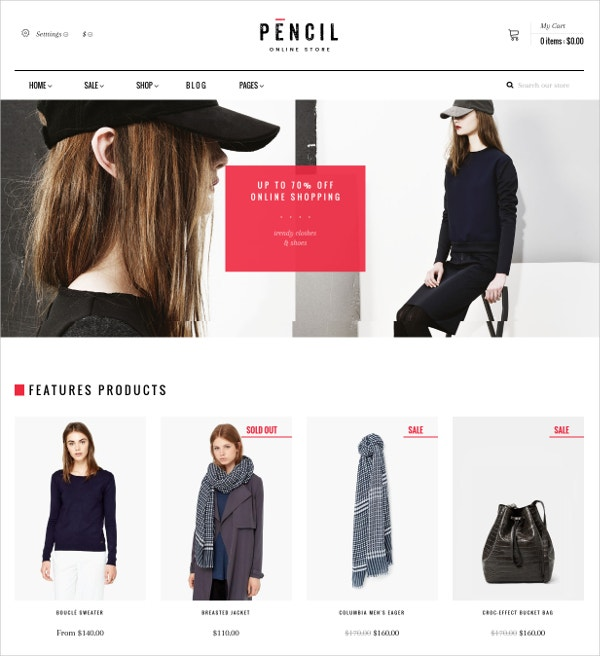 Fashion eCommerce Shopify Blog Theme $65