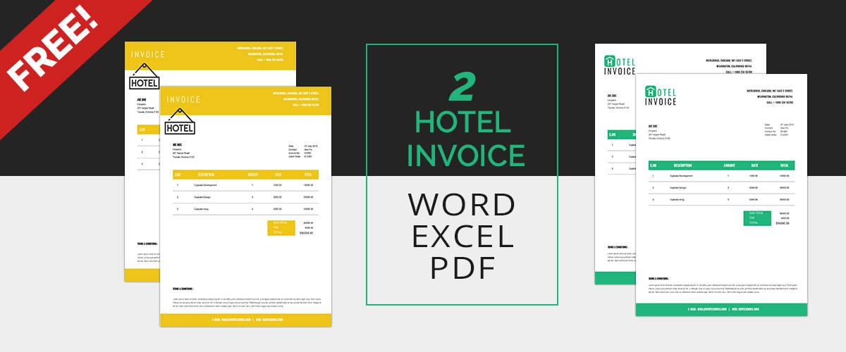 Hotel Invoice Templates