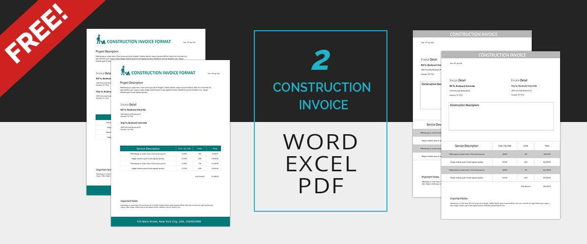 Invoice Template   Free Documents In Word Excel Pdf  Free