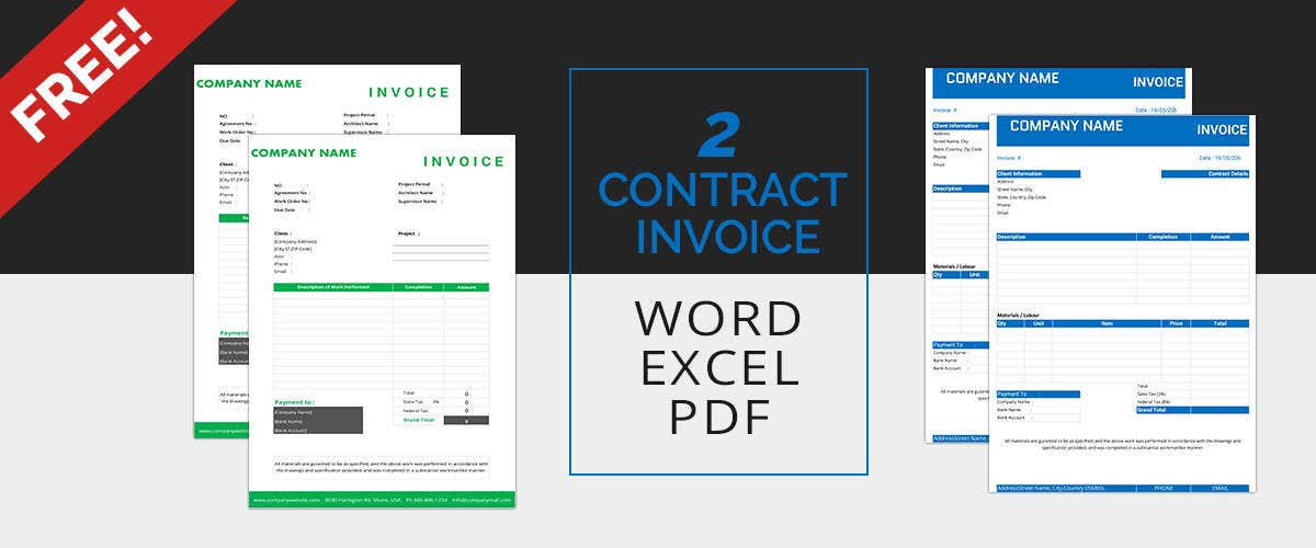 Contract Invoice Templates