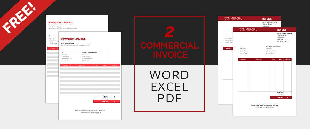 Commercial Invoice Templates