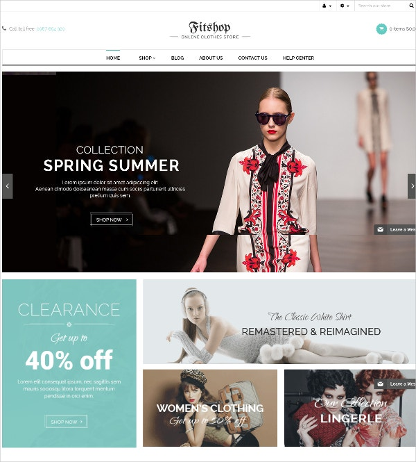 Women Wear Shopify Blog Theme $45