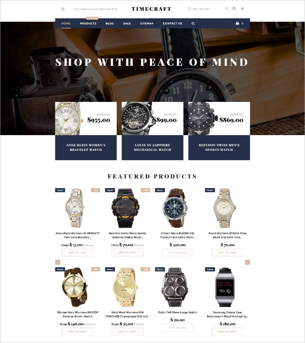 Watches Shop Shopify Theme $139