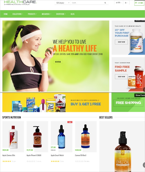 Health & Beauty Care Shopify Theme $55