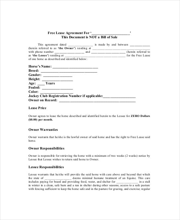 12 Lease Agreement Templates Word Pdf Pages Free Premium