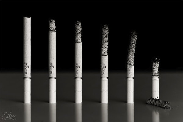 Conceptual Photography Of Cigarette