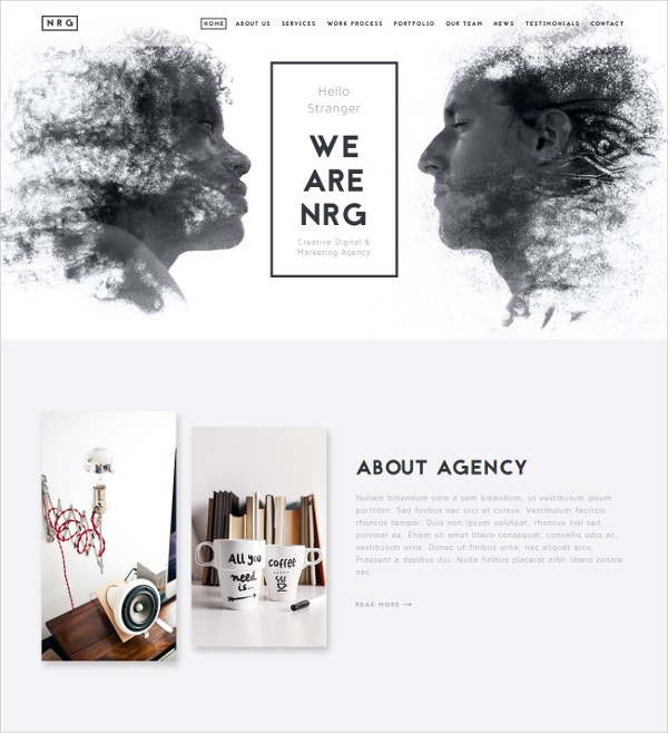 Creative One Page Marketing Agency Drupal Theme $43