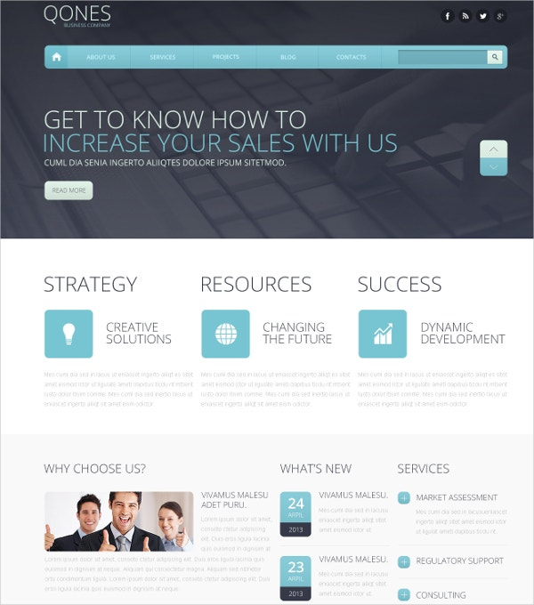 Flat Marketing Agency Drupal Template $75