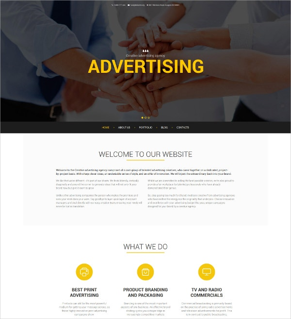 Advertising Agency Drupal Template $75