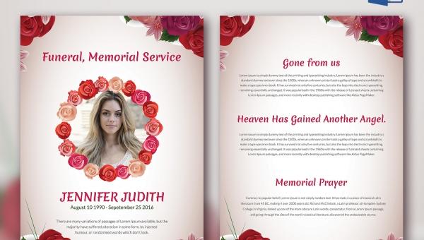 funeral memorial program templates