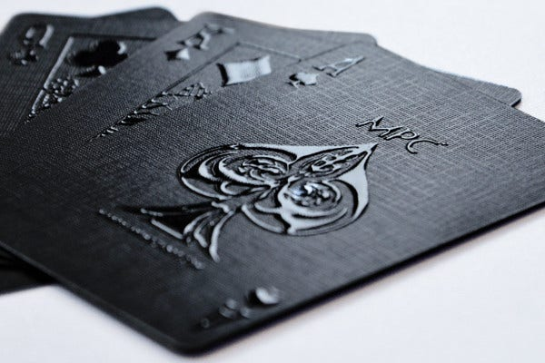 Black Themed Playing Card