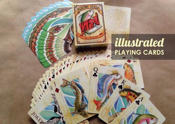 Fishing Poker Playing Cards
