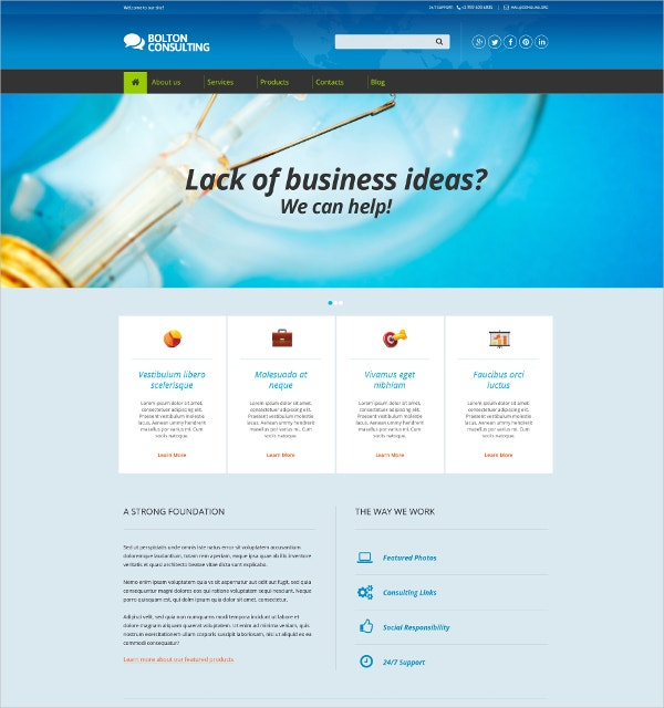 Business Consulting Drupal Template $75