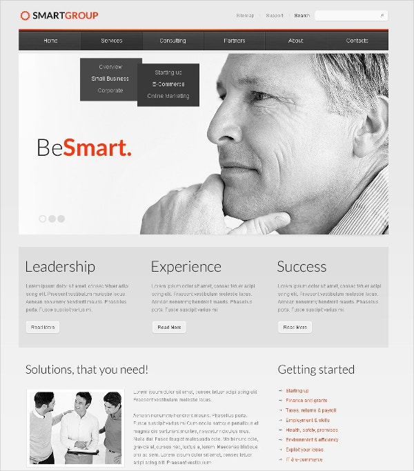 Consulting Responsive Drupal Template $69