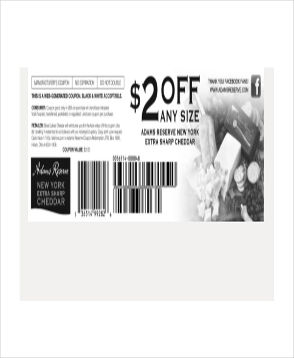 Facebook Coupon Template