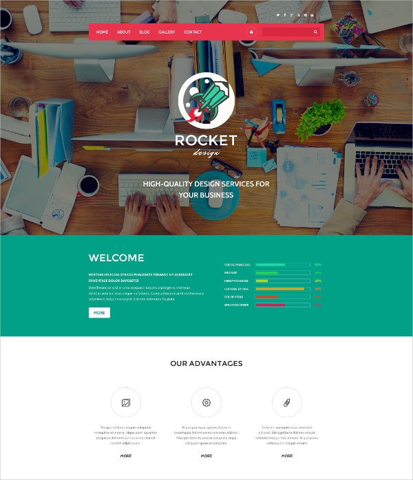Rocket Design Drupal Website Template $75
