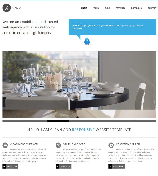 Multi Colour Responsive Drupal Website Theme $48