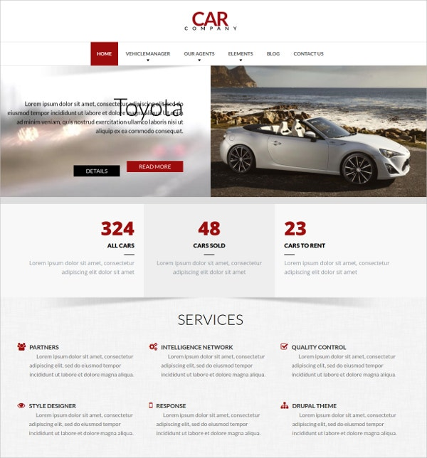 Company Drupal Responsive Website Theme $59