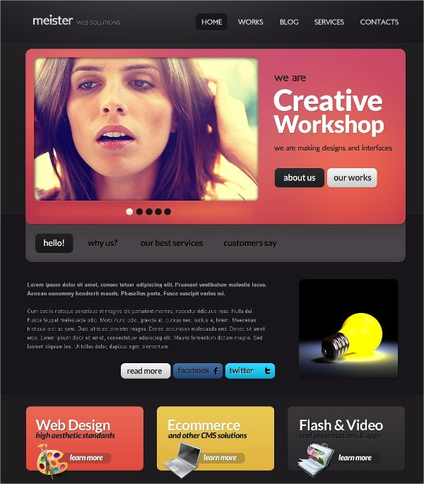Website Design Drupal Template $67