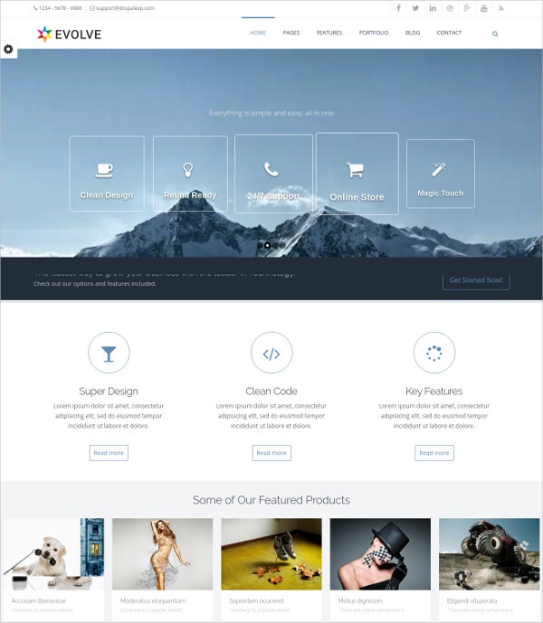 Multipurpose Drupal Website Theme $48