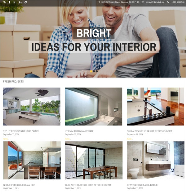 Furniture Drupal Website Theme $75