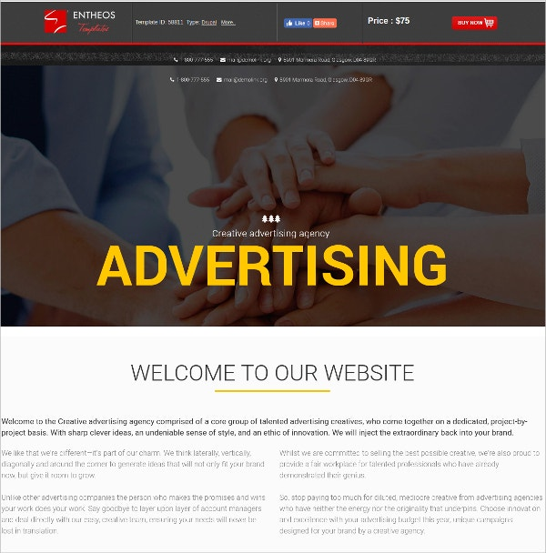 Advertising Agency Drupal Website Template