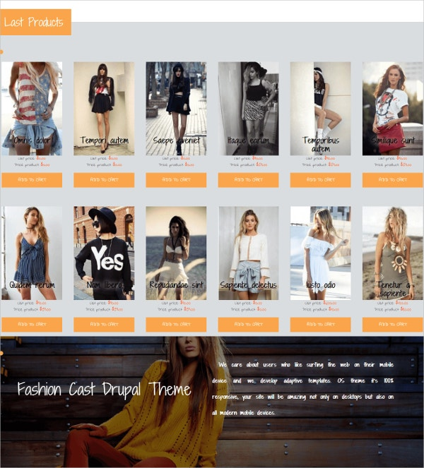 eCommerce Drupal Website Theme $59