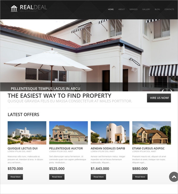 Property Sale Drupal Website Theme $66