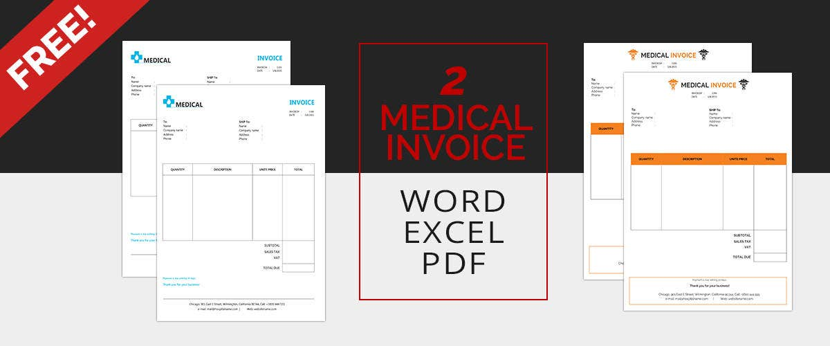 Medical Invoice Templates. Medical_Invoice_Template_Mockup  Mock Invoice Template