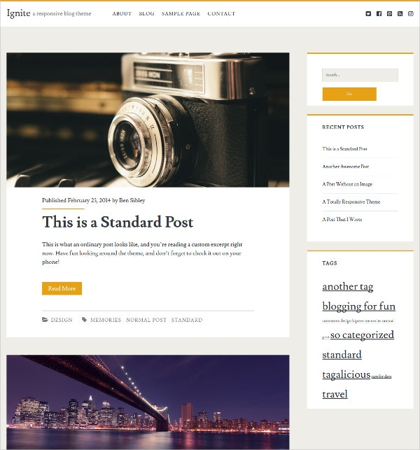 Free WordPress Blog Theme for Personal Blogs