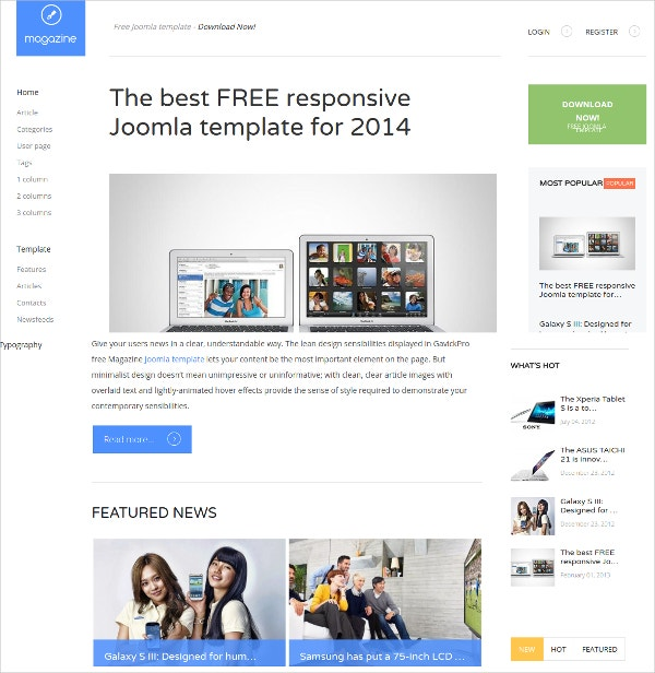 20 free stylish blog themes templates free premium for Free joomla template creator software