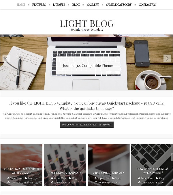 free responsive joomla template