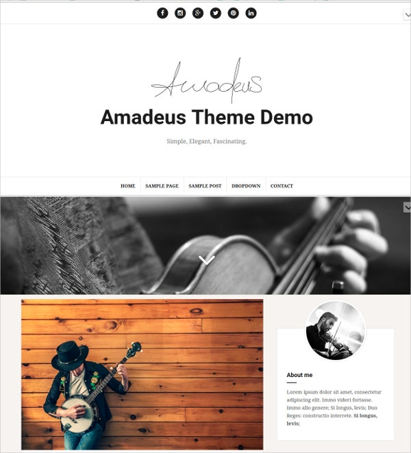 Free Responsive Music WordPress Blog Theme