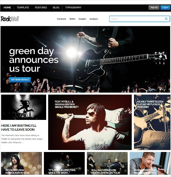 Free Music News Blog Joomla Theme