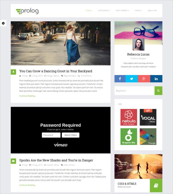 Free Minimal Blogging WordPress Theme for Business