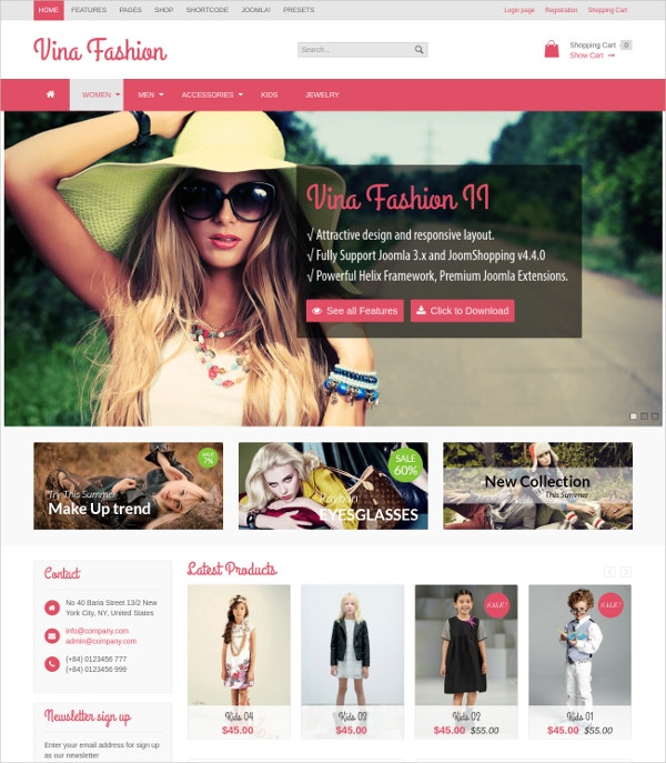 Fashion Shopping Free Joomla Blog Template