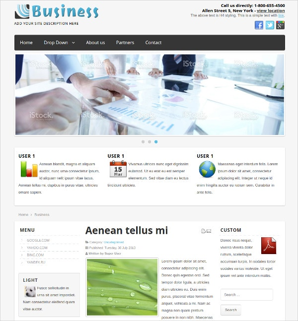 Business Blog Free Joomla Template