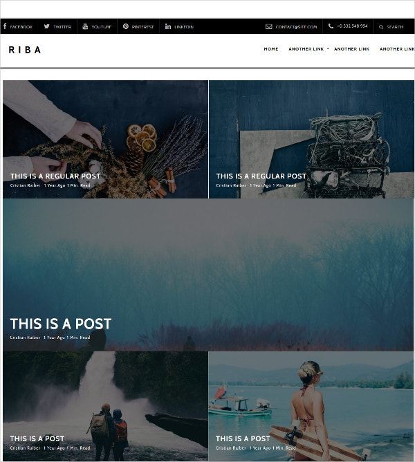 Beautiful Free Photography Blog WordPress Theme