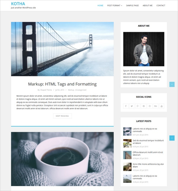 Free Responsive WordPress Blog Theme for Lifestyle