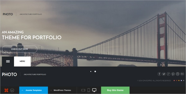 Free Photo Blog Joomla Theme for Architectures