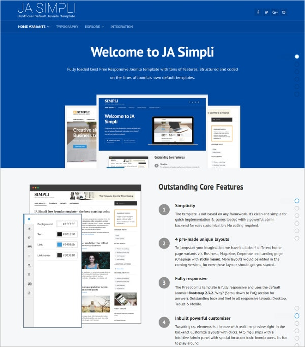 Free Joomla Blog Template for Personal & Professioanl