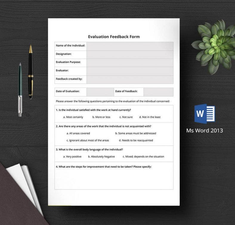 hr evaluation feedback form 788x753