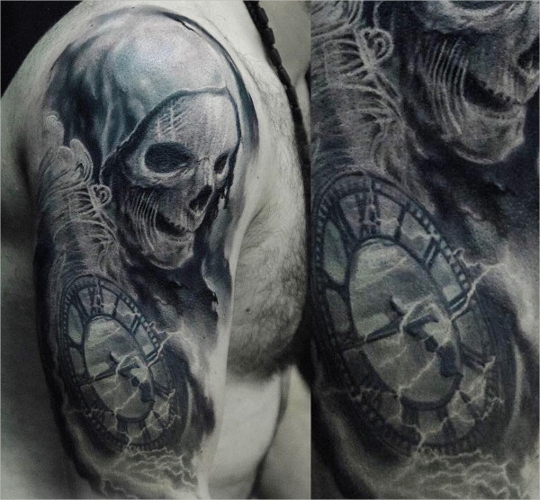 3d Evil Tattoo Design