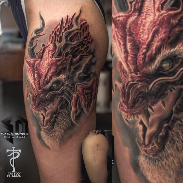 Amazing 3D Japanese Tattoo