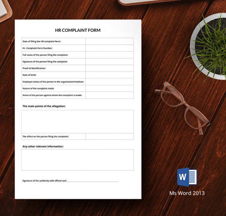 HR Complaint Form1