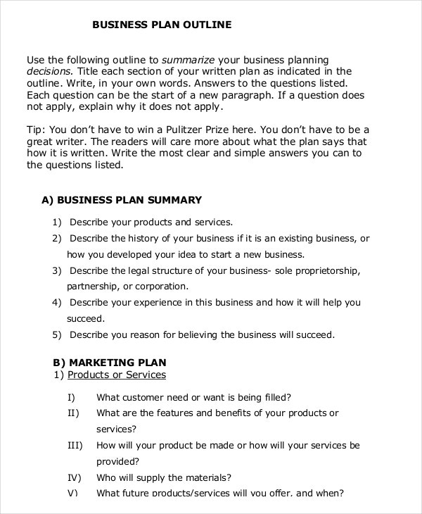 business plan example essay example essay sample