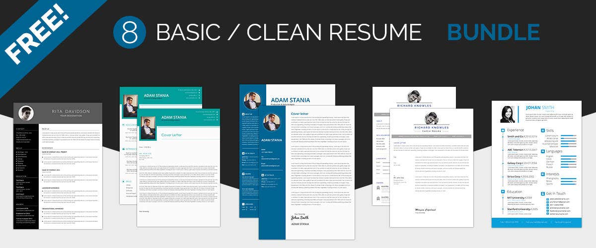 basic clean resume templates